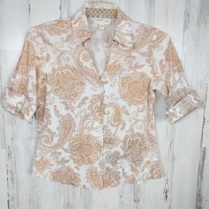 🌿 Coldwater Creek Paisley Button Down Shirt